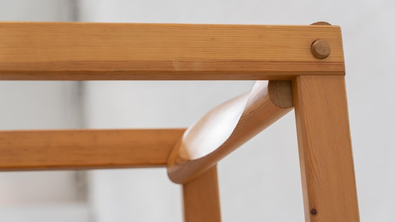Mid-20th Century Scandinavian Chair in Pine by Edvin Helseth in 1964 for Trybo Furniture, Norway For Sale