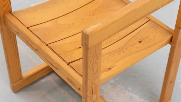 Scandinavian Chair in Pine by Edvin Helseth in 1964 for Trybo Furniture, Norway For Sale 1