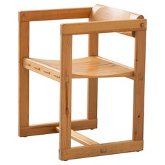 Scandinavian Chair in Pine by Edvin Helseth in 1964 for Trybo Furniture, Norway