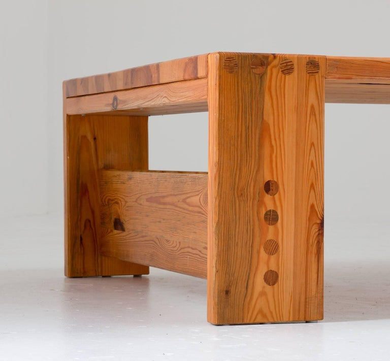 Mid-Century Modern Scandinavian Coffee Table in Pine by Sven Larsson For Sale