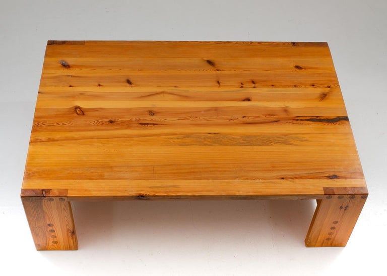 Swedish Scandinavian Coffee Table in Pine by Sven Larsson For Sale