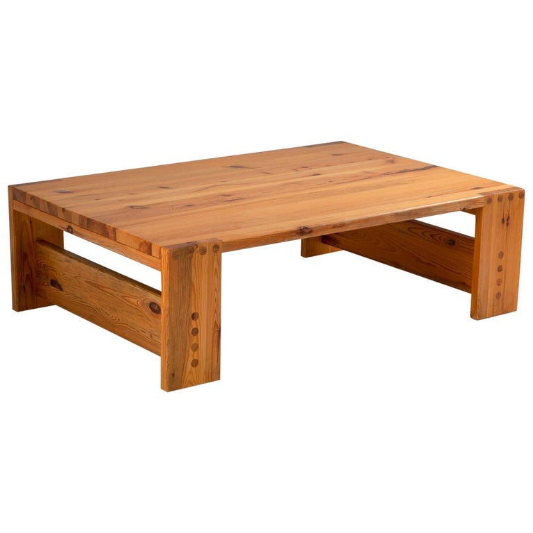 Scandinavian Coffee Table in Pine by Sven Larsson For Sale