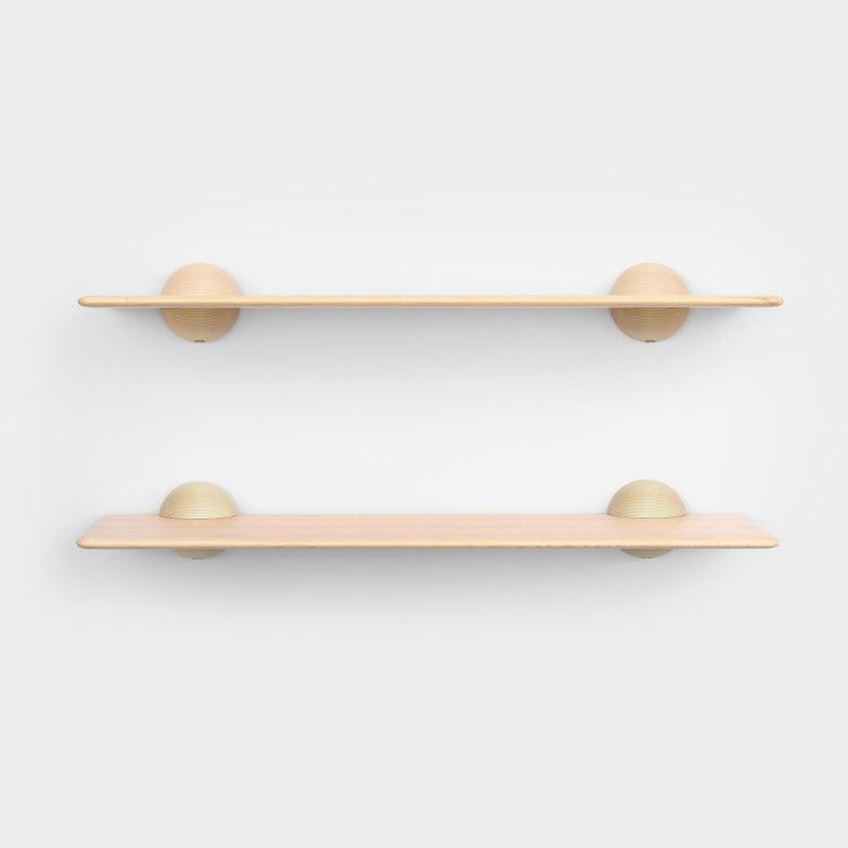 Minimalist Scandinavian Contemporary Natural Klot 90, Side Table, Shelf For Sale