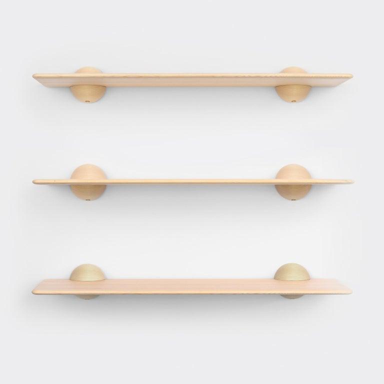 Swedish Scandinavian Contemporary Natural Klot 90, Side Table, Shelf For Sale