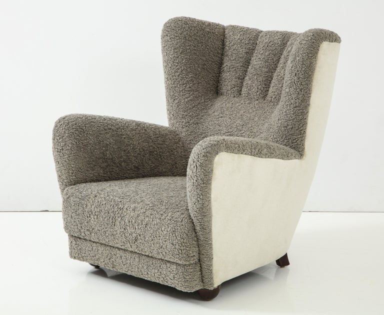 Scandinavian Deco Club Chair In Excellent Condition For Sale In New York, NY