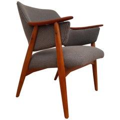 Scandinavian Design, Armchair, Kvadrat Wool by Nana Ditzel, Completely Restored