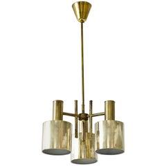 Scandinavian Design Brass Flush Mount Ceiling Lamp, Sweden, 1960s