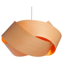 Scandinavian Design natural wood veneer chandelier pendant