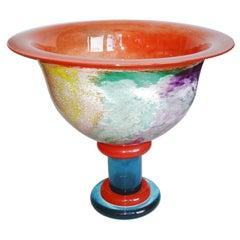 Scandinavian Design Glass Bowl by Kjell Engman for Kosta Boda, 1980s