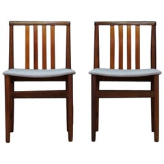 Scandinavian Design Gray Chairs 1960s Teak