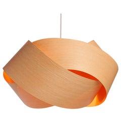 Scandinavian Design Natural Wood Veneer Chandelier Pendant