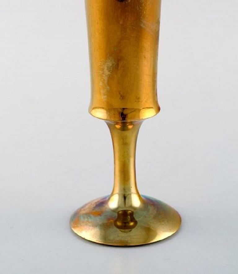 Scandinavian Design, Three Vases in Brass, 1960s In Good Condition For Sale In Copenhagen, Denmark