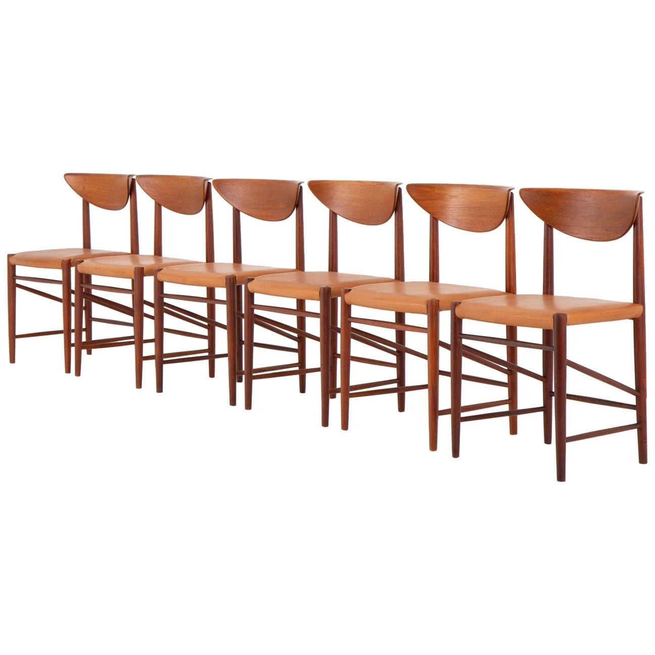Scandinavian Dining Chairs by Peter Hvidt and Orla Mølgaard Nielsen, Model 316