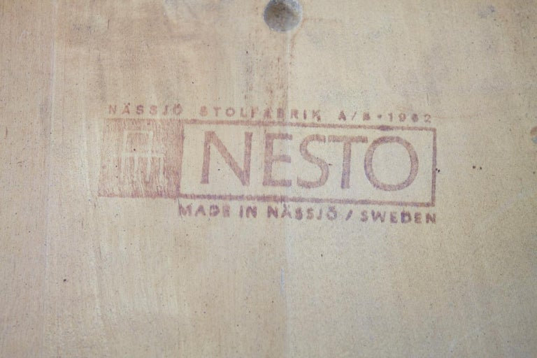 Scandinavian Dining Wood Chairs by Nesto Sweden, 1950s For Sale 3