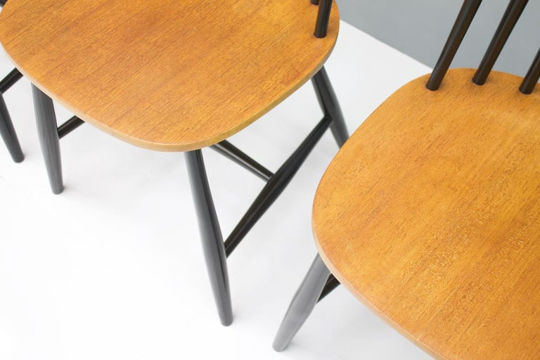 Scandinavian Dining Wood Chairs by Nesto Sweden, 1950s For Sale 2