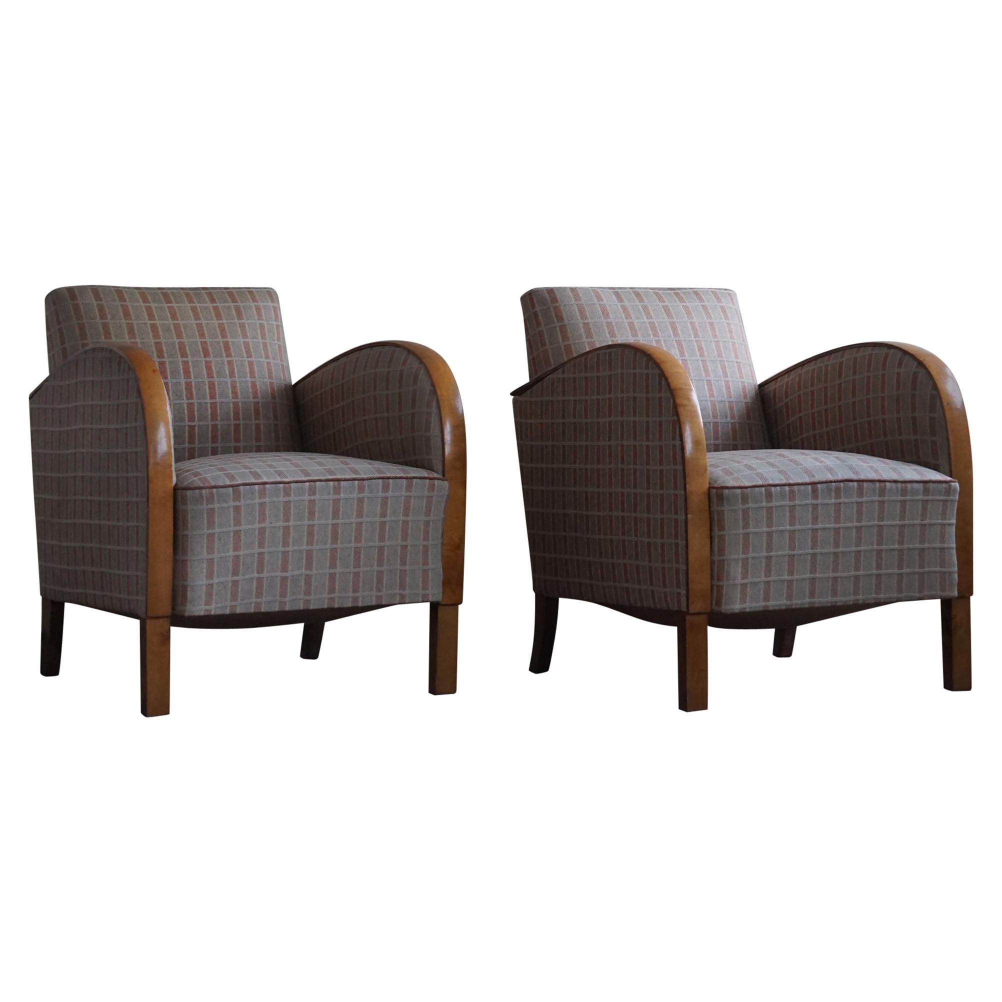 Scandinavian Easy Chairs, 1930s, Set of 2
