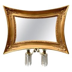 Scandinavian Empire Giltwood Concave Sided Sconce Mirror