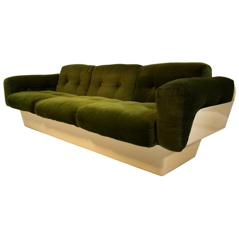 Scandinavian Fiberglass Sofa from Eero Aarnio for Asko, 1970s