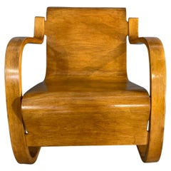 Scandinavian Finnish Cantilevered Lounge Armchair by Alvar Aalto