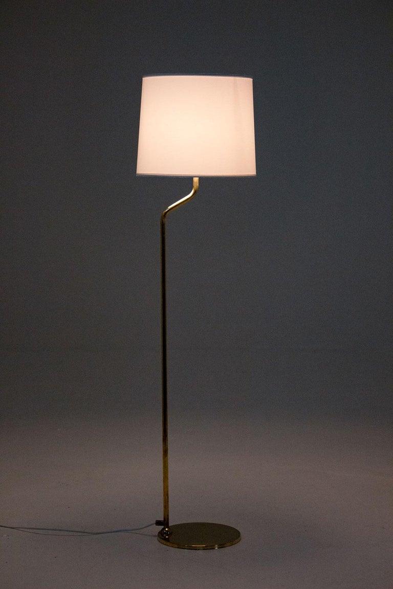 Scandinavian Modern Scandinavian Floor Midcentury Lamps in Brass by ÖIA, Sweden For Sale