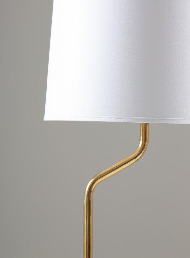 Swedish Scandinavian Floor Midcentury Lamps in Brass by ÖIA, Sweden For Sale
