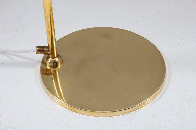Scandinavian Floor Midcentury Lamps in Brass by ÖIA, Sweden For Sale 1