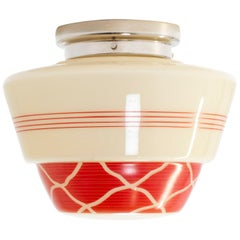 Scandinavian Flushmount Ceiling Lamp, 1950s