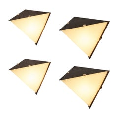 Scandinavian Geometric Wall Lights in Copper and Acrylic