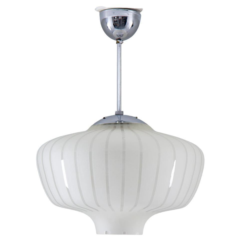 Scandinavian Glass Pendant, Swedish Modern, 1940s