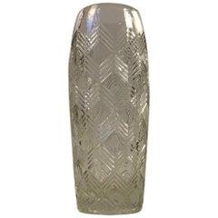 Scandinavian Glass Vase with Arrows, 1930s