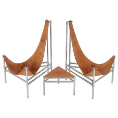 """Scandinavian """"Inka"""" Lounge Chairs by Christina and Lars Andersson, 1980s"""