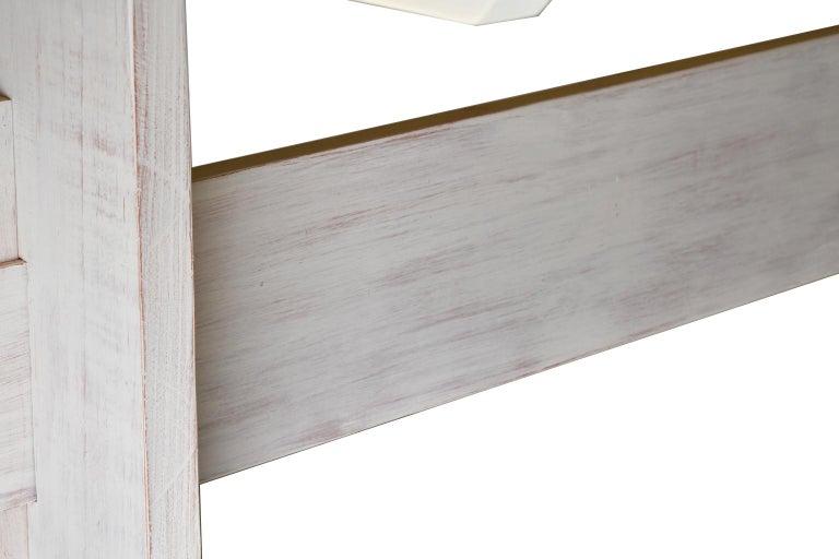 American Bonnin Ashley Custom-Bench Made Scandinavian Inspired Trestle Dining Table For Sale