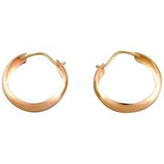 Scandinavian Jeweler, a Pair of 18 Carat Gold Earrings, Mid-20th Century