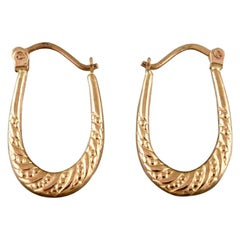 Scandinavian Jeweler, a Pair of 8 Carat Gold Earrings in the Form of Horseshoes