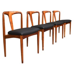 Scandinavian Johannes Andersen Chairs with New Upholstery, Denmark, 1960s