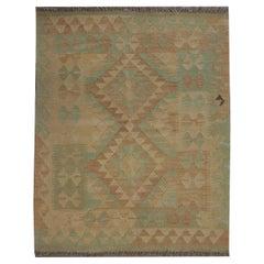 Scandinavian Kilim Modern Rug Handmade Carpet Wool Beige Green Area Rug