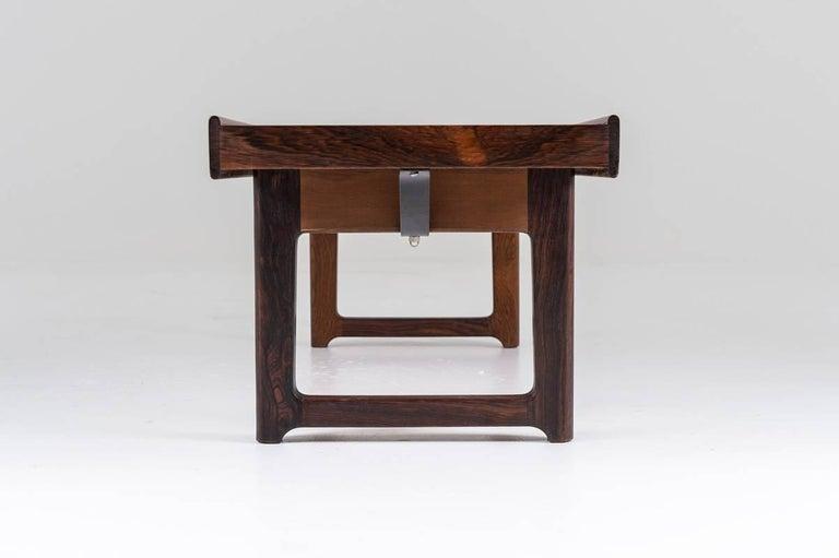 Norwegian Scandinavian 'Krobo' Bench in Rosewood by Torbjørn Afdal for Mellemstrands For Sale