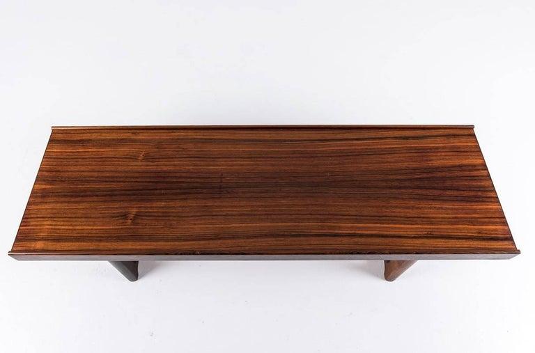 Scandinavian 'Krobo' Bench in Rosewood by Torbjørn Afdal for Mellemstrands For Sale 1
