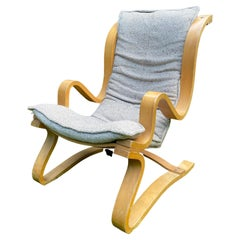 Scandinavian Laminated Beech Lounge Chair, in Style of Alvar Aalto, ca. 1960s