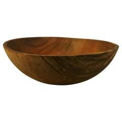 Antique Scandinavian Large Folk Art Carved Wood Bowl 1940