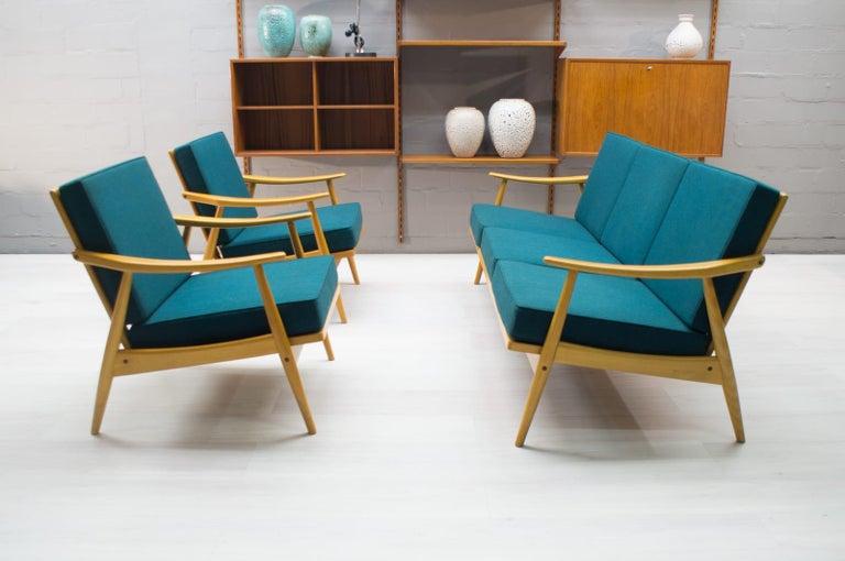 Fabric Scandinavian Living Room Set, 1960s For Sale