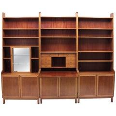 Scandinavian Master Cabinet Maker Bookcase, 1950s