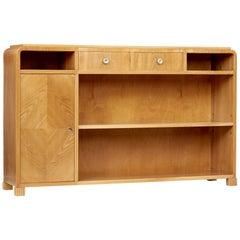 Scandinavian Mid-20th Century Elm Low Bookcase