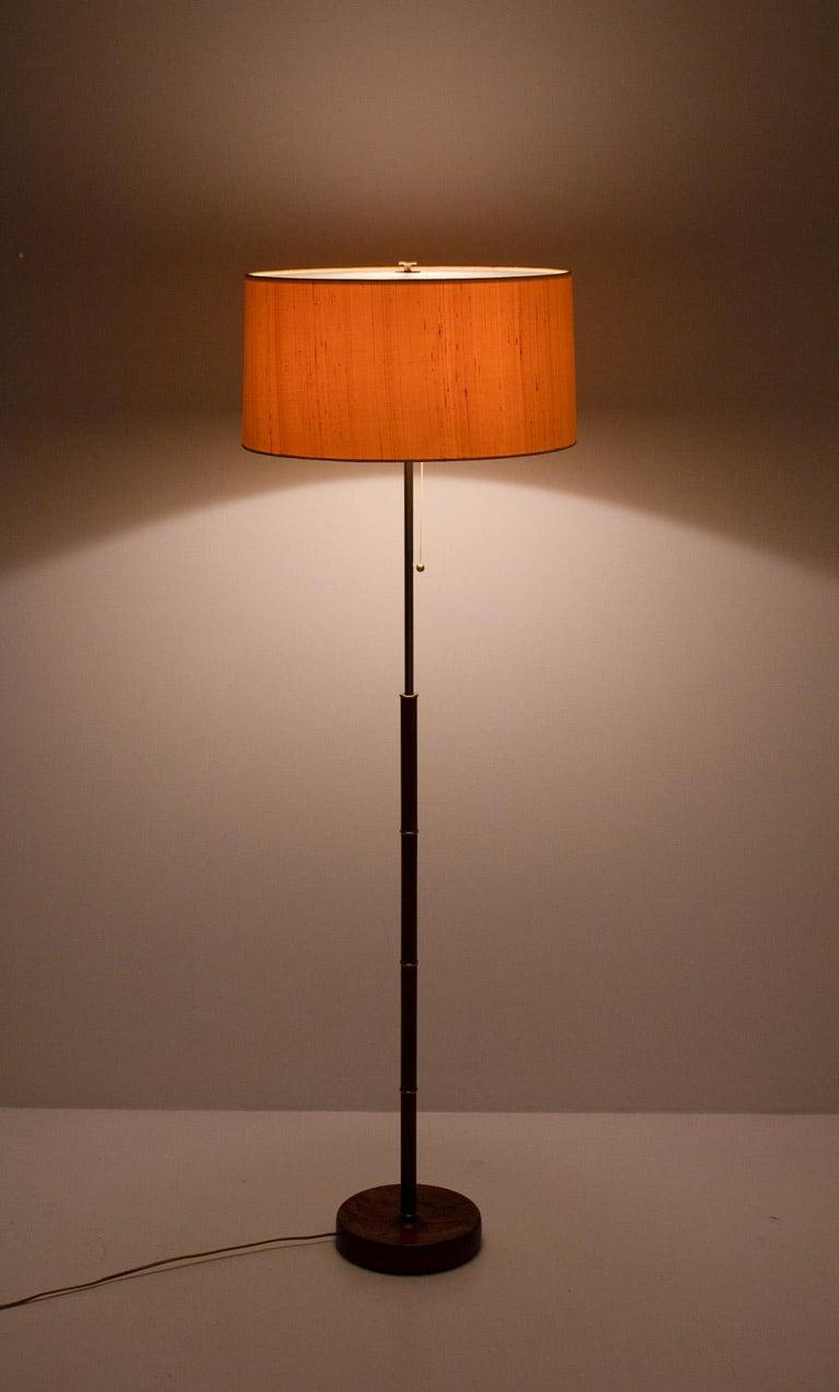 Scandinavian Midcentury Floor Lamp in Brass and Rosewood by Bergboms, Sweden 4