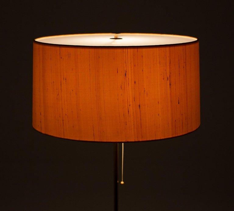 Scandinavian Midcentury Floor Lamp in Brass and Rosewood by Bergboms, Sweden 5