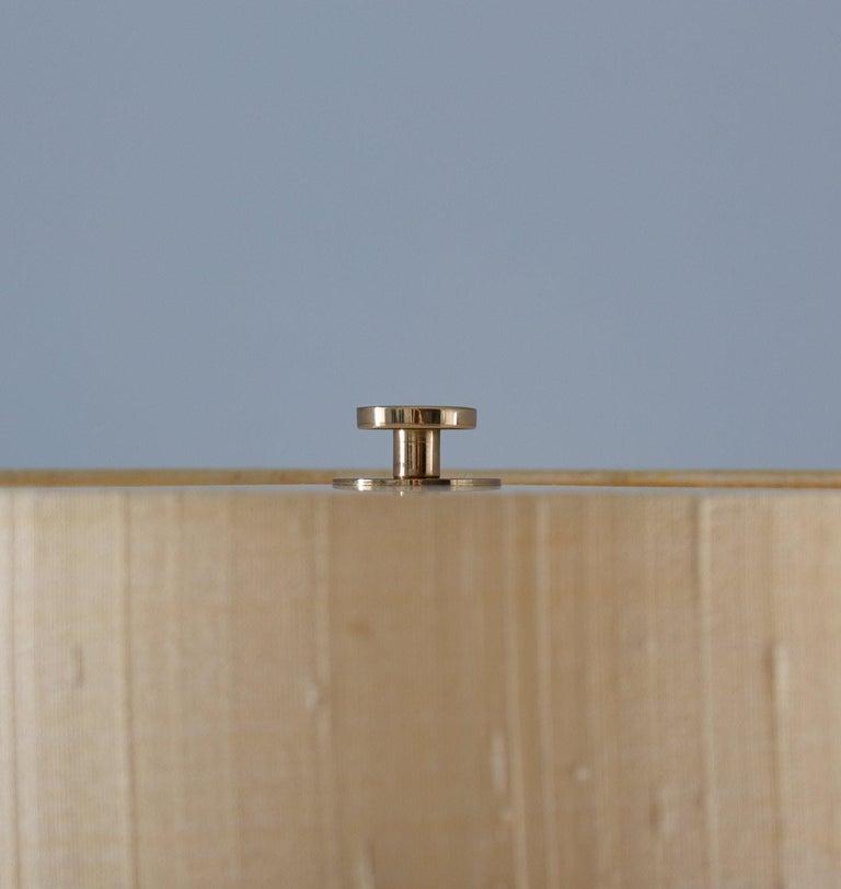 Scandinavian Midcentury Floor Lamp in Brass and Rosewood by Bergboms, Sweden In Good Condition In Karlstad, SE