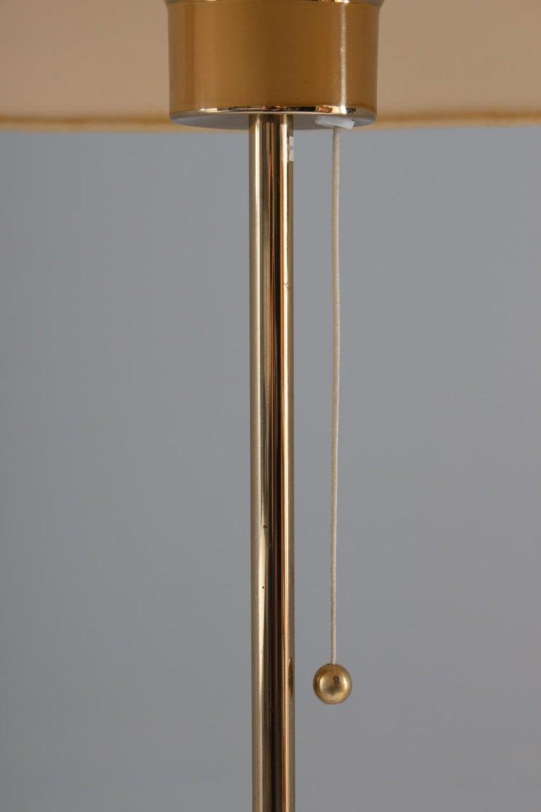 Scandinavian Midcentury Floor Lamp in Brass and Rosewood by Bergboms, Sweden 1