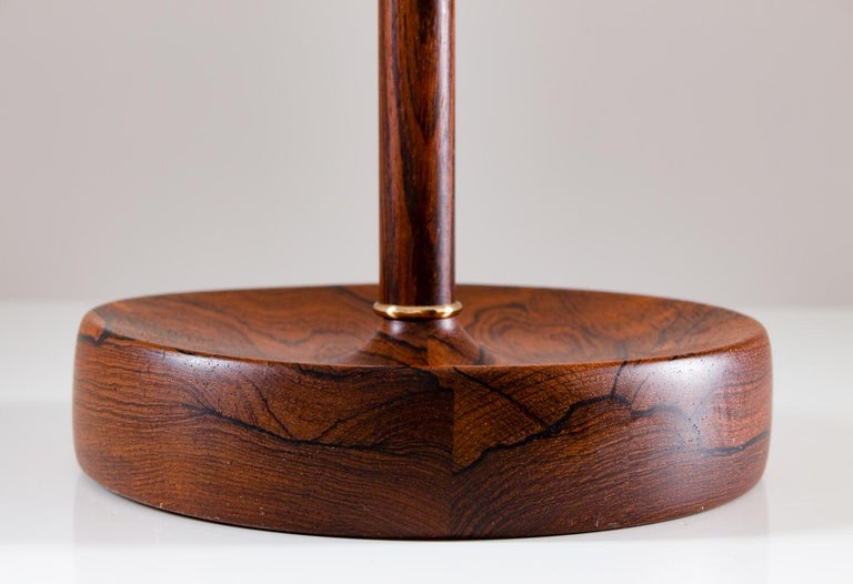 Scandinavian Midcentury Floor Lamp in Brass and Rosewood by Bergboms, Sweden 3