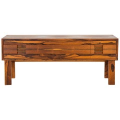 Scandinavian Mid Century Hallway Chest in Rosewood by Glas & Trä