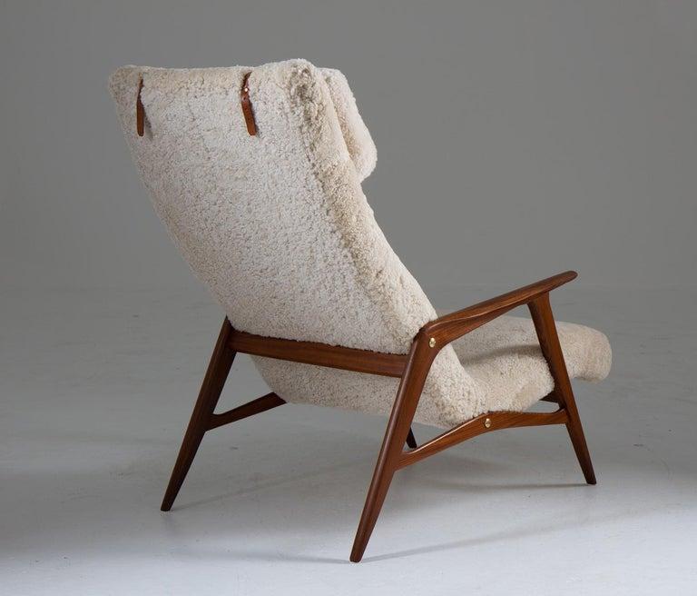 Mid-Century Modern Scandinavian Mid Century Lounge Chair by Jio Möbler For Sale